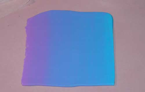 Farbverlauf Transparentfimo