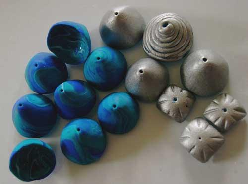 Perlenkappen aus Fimo
